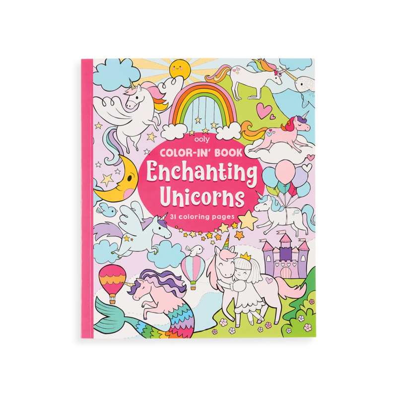 Color In Book Enchanting Unicorns