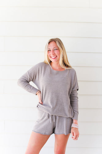 Barefoot Dreams Ultra Lite Slouchy Pullover - Beach Rock
