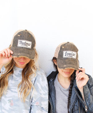 Louise Distressed Trucker Hat