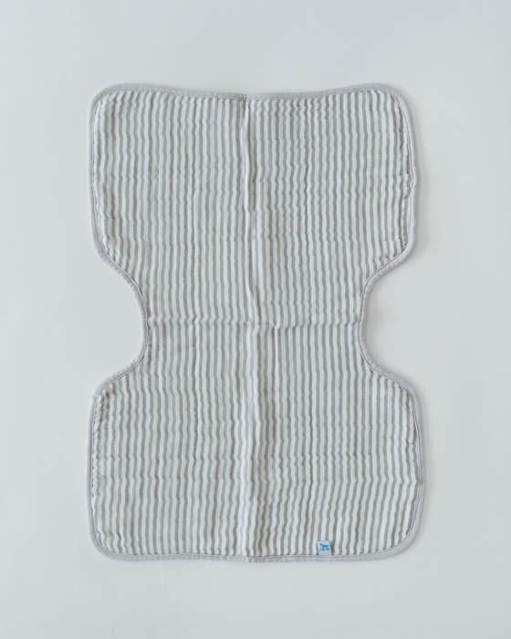 Little Unicorn Grey Stripe Burp Cloth