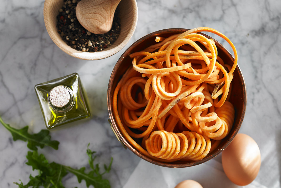 Three ways with Spiralized Carrot Noodles