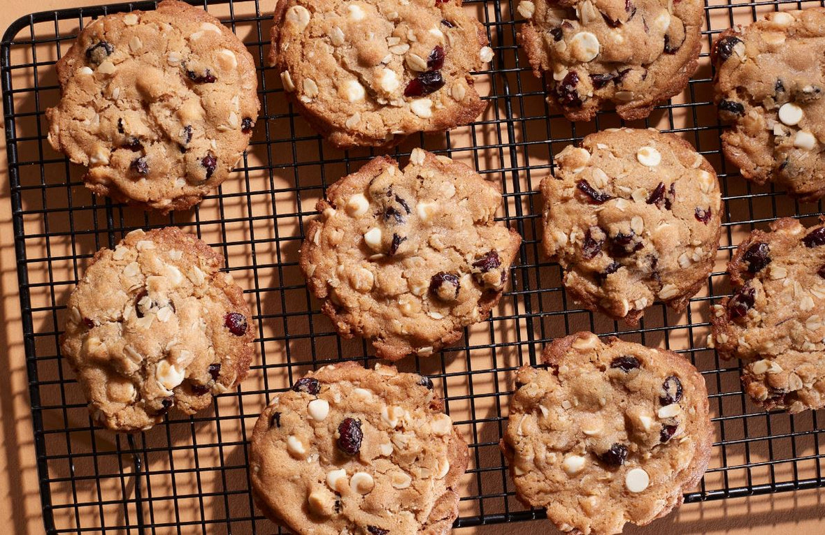 Brown butter white chocolate cranberry cookies