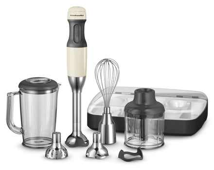 Artisan Deluxe 5 Speed Hand Blender Almond Cream Refurb KHB2569
