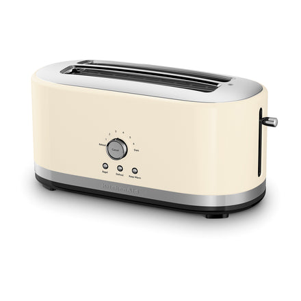 4 Slice Long Slot Toaster with High Lift Lever - Almond Cream Refurb KMT4116
