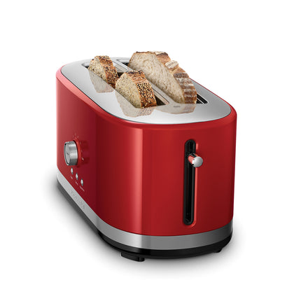 4 Slice Long Slot Toaster with High Lift Lever - Empire Red Refurb KMT4116