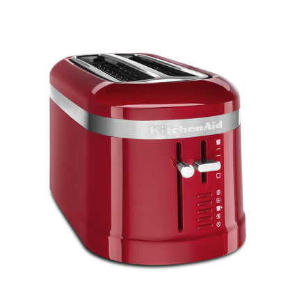 4 Slice Long Slot Toaster with High Lift Lever - Empire Red Refurb KMT5115