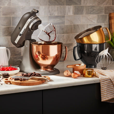 4.8L Radiant Copper Stainless Steel Bowl for Tilt-Head Stand Mixer KSM5SSBRC