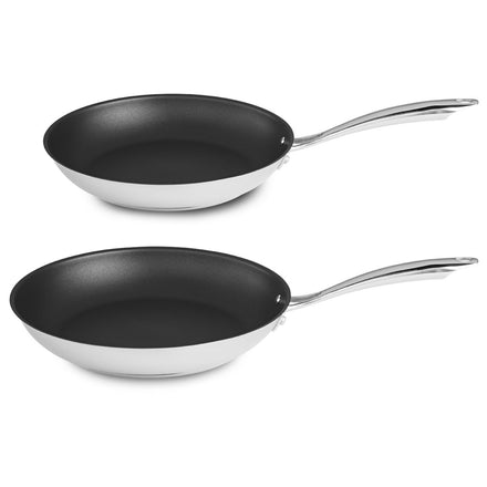 Stainless Steel 20cm & 25cm Frypan Twin Pack