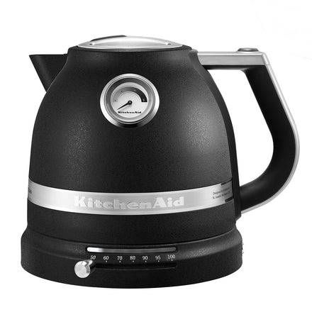 1.5L Pro Line® Series Electric Kettle with Adjustable Temperature - Cast Iron Black Refurb KEK1522
