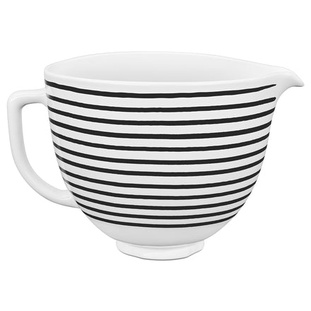 4.7L Horizontal Stripes Ceramic Bowl for Tilt-Head Stand Mixer KSM2CB5PHS
