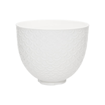 4.7L White Mermaid Lace Ceramic Bowl for Tilt-Head Stand Mixer KSM2CB5TWM