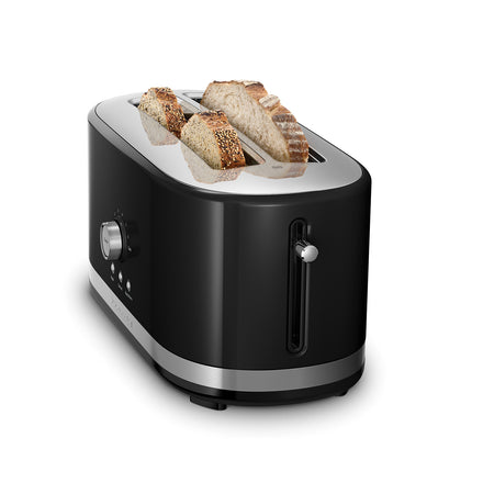 4 Slice Long Slot Toaster with High Lift Lever - Black Refurb KMT4116