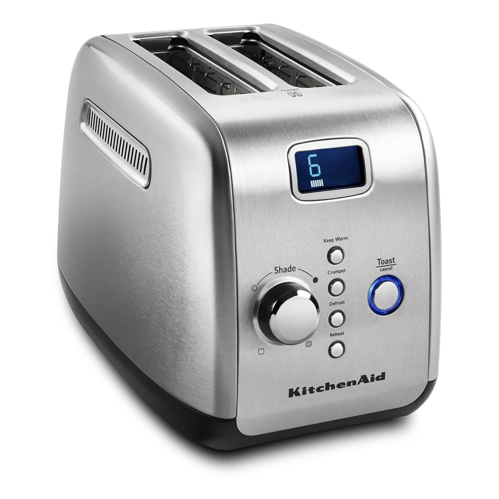 New 2-slice See-Through Automatic Toaster  Stainless Steel Silver Kitchen Tool