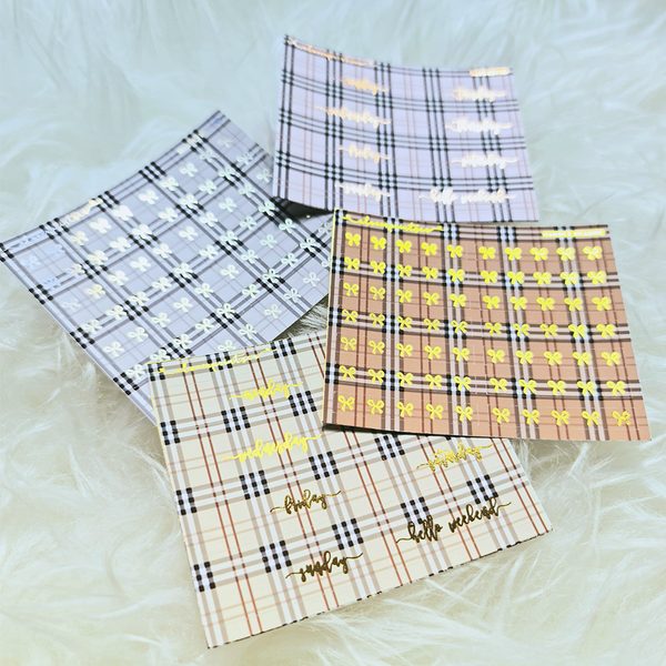 FOILED FUNCTIONAL - Mini Sticky Note Tartan