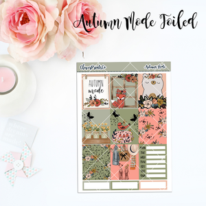 FOILED Standard Vertical Weekly Kit - Autumn Mode