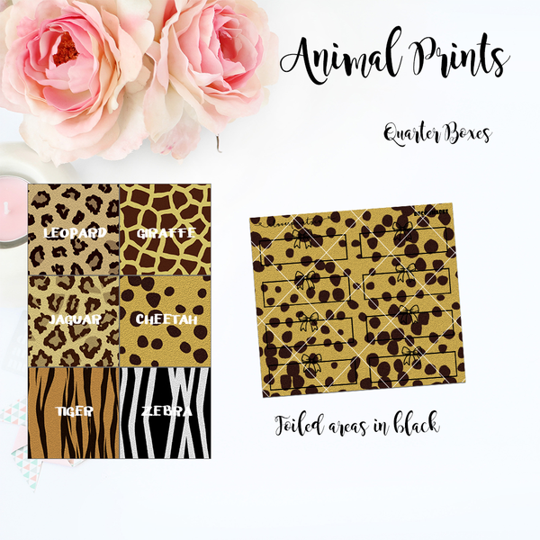 FOILED FUNCTIONAL - Quarter Boxes Animal Prints