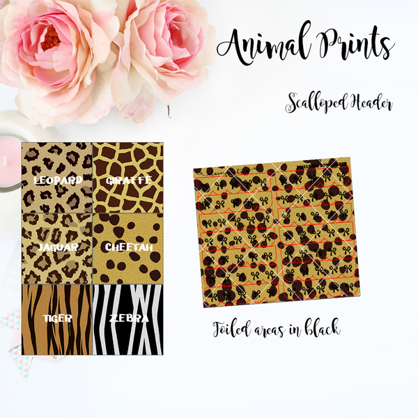 FOILED FUNCTIONAL - Scalloped Header Animal Prints