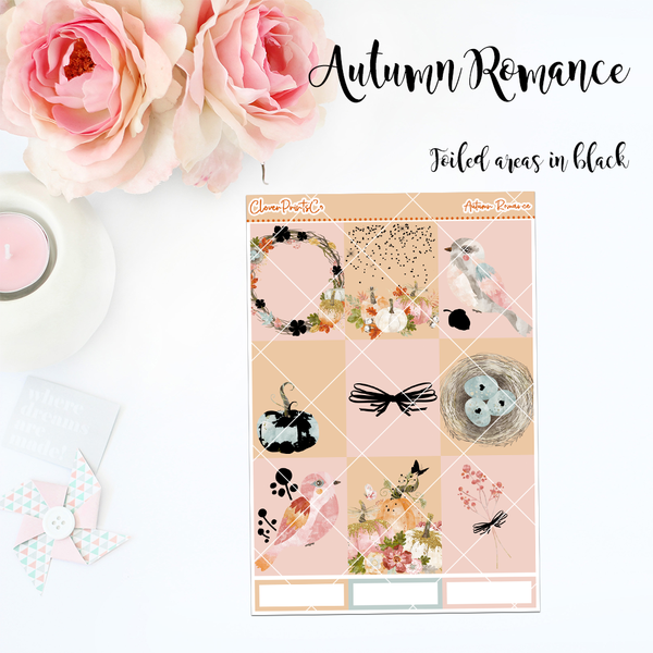 FOILED Standard Vertical Weekly Kit - Autumn Romance
