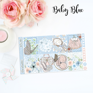 Standard Vertical Weekly Kit FULL - Baby Blue