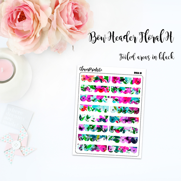 FOILED FUNCTIONAL - Floral Bow Header