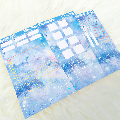 FOILED Hobonichi Weeks Weekly Kit - Blue Galaxy