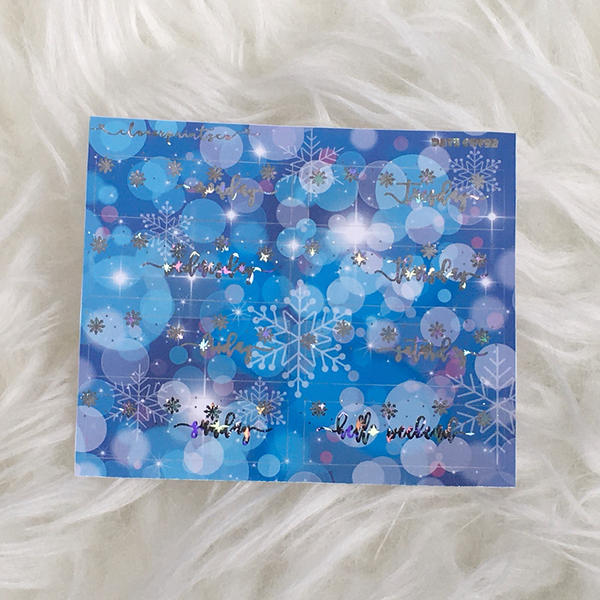 FOILED FUNCTIONAL - Date Cover Snowflake