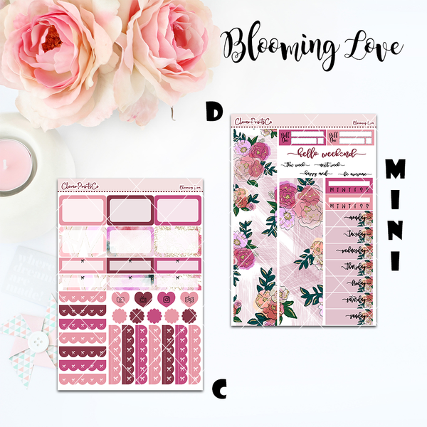 Standard Vertical Weekly Kit MINI  - Blooming Love