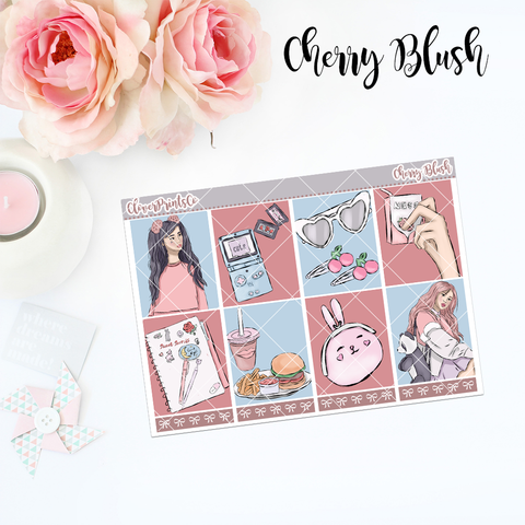 Standard Vertical Weekly Kit MINI - Cherry Blush