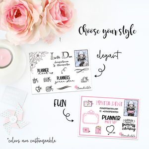 SHIPPING ADD ON FOR Custom Contact Card For Planner Event