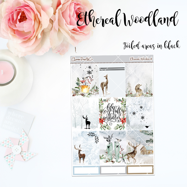 FOILED Standard Vertical Weekly Kit - Ethereal Woodland