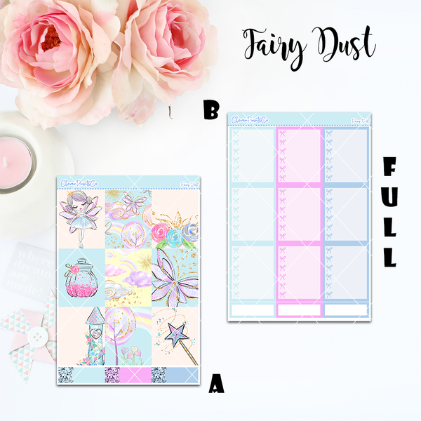 Standard Vertical Weekly Kit FULL - Fairy Dust