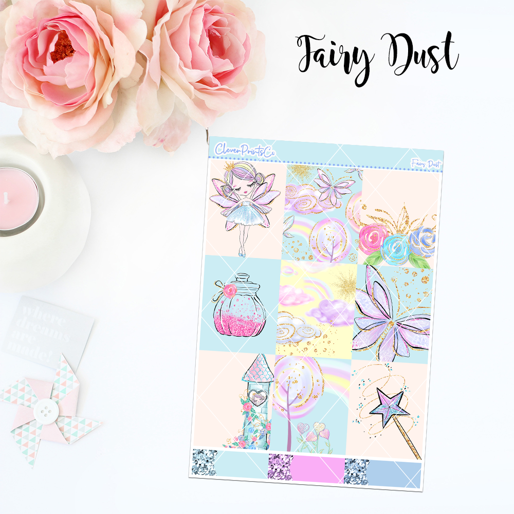 Standard Vertical Weekly Kit MINI  - Fairy Dust