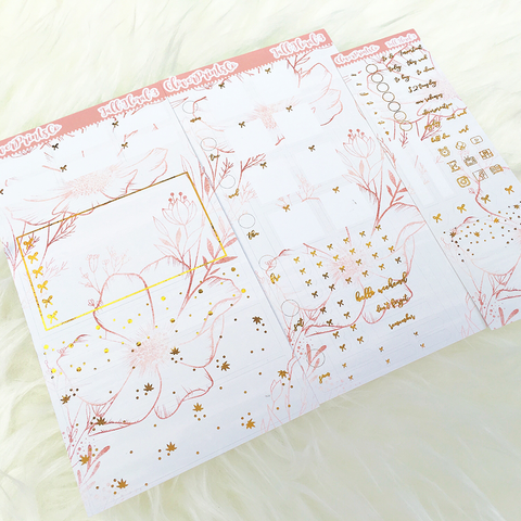 FOILED Hobonichi Weeks Weekly Kit - Fall Floral 3