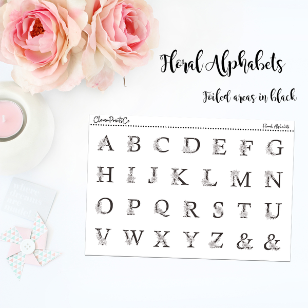FOILED FUNCTIONAL - Floral Alphabets
