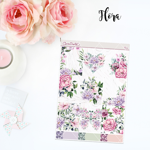 Standard Vertical Weekly Kit MINI  - Flora