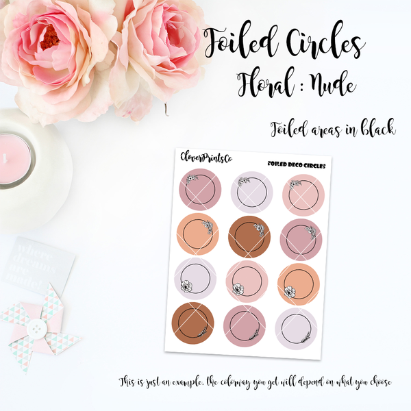 FOILED FUNCTIONAL - Foiled Circles Floral Ver. - Metals Foil Color