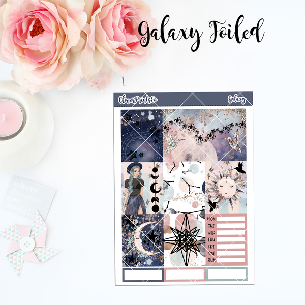 FOILED Standard Vertical Weekly Kit - Galaxy