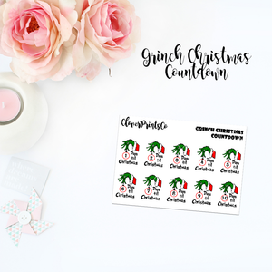 Functional - Grinch Christmas Countdown