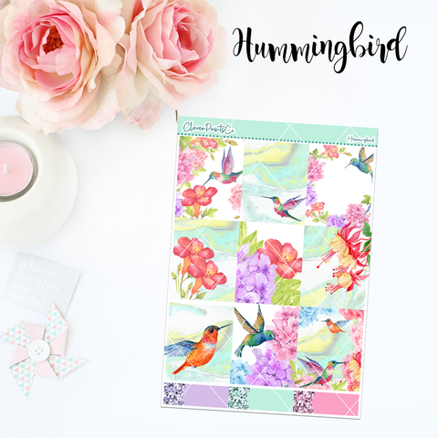 Standard Vertical Weekly Kit MINI  - Hummingbird