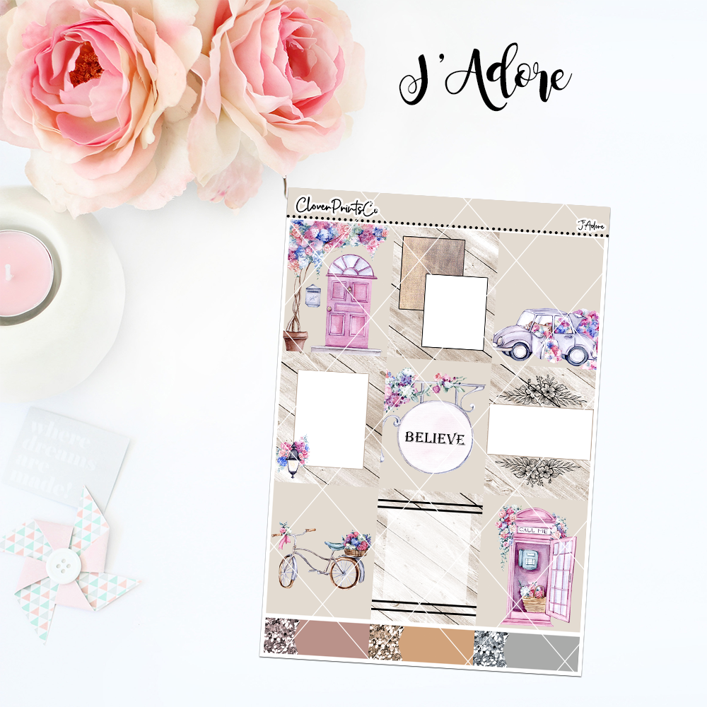 Standard Vertical Weekly Kit MINI  - J'Adore