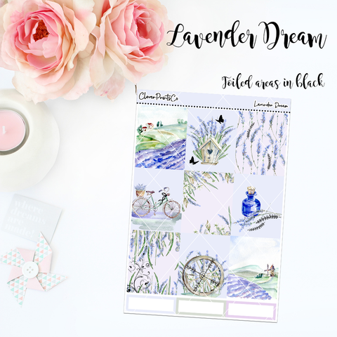 FOILED Standard Vertical Weekly Kit - Lavender Dream