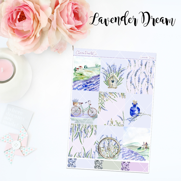 Standard Vertical Weekly Kit MINI  - Lavender Dream