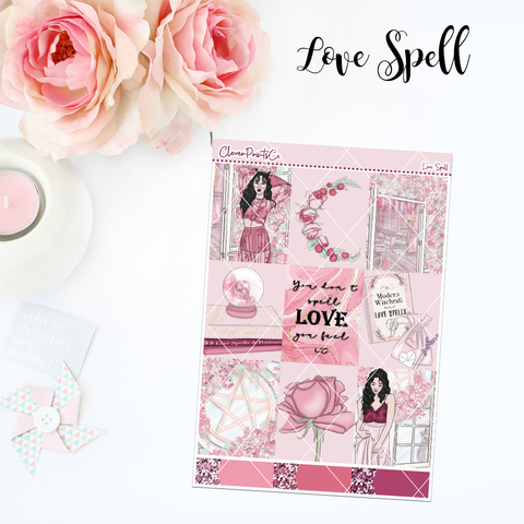 Standard Vertical Weekly Kit MINI  - Love Spell