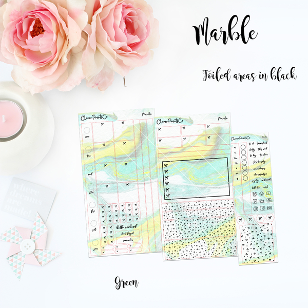 FOILED Hobonichi Weeks Weekly Kit - Marble Series