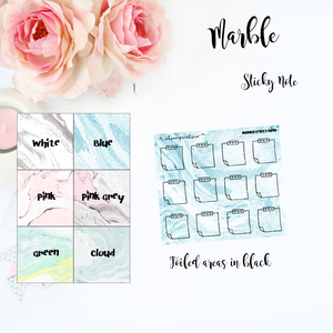 FOILED FUNCTIONAL - Mini Sticky Notes Marble
