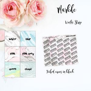 FOILED FUNCTIONAL - Washi Strip Marble
