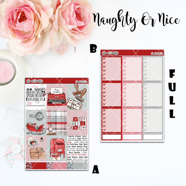Standard Vertical Weekly Kit FULL - Naughty Or Nice