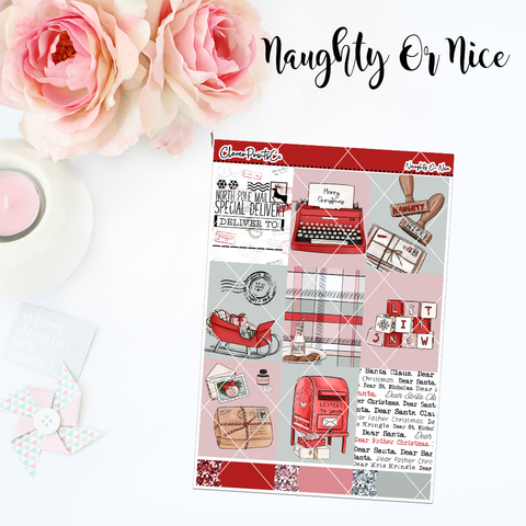 Standard Vertical Weekly Kit MINI  - Naughty Or Nice
