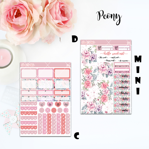 Standard Vertical Weekly Kit MINI  - Peony
