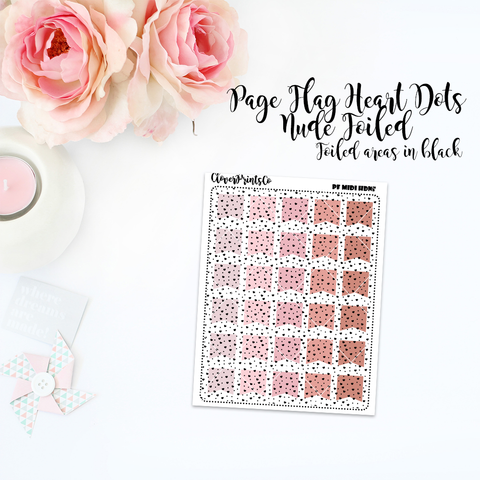 FOILED FUNCTIONAL - Multicolor Heart Dots Page Flag